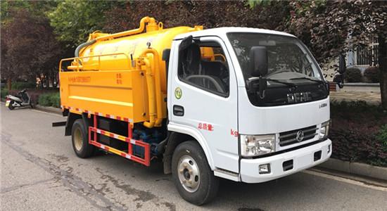 东风清洗吸污车︱4吨清洗吸污车