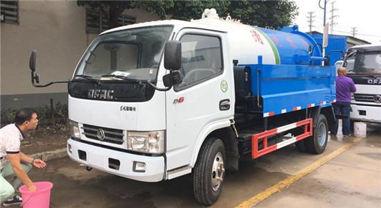 东风清洗吸污车︱6吨清洗吸污车