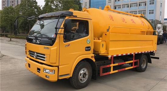 东风清洗吸污车︱8吨清洗吸污车