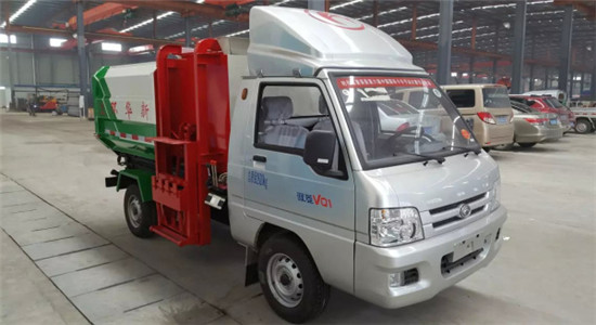 福田挂桶式垃圾车︱2吨挂桶垃圾车