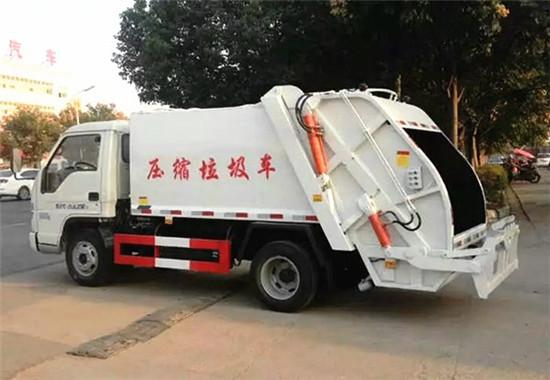 福田压缩式垃圾车︱3吨压缩式垃圾车图片