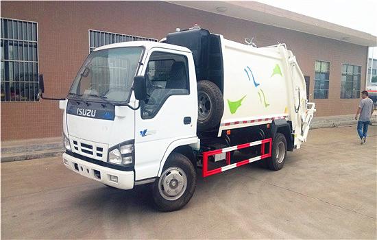 五十铃压缩式垃圾车︱5吨压缩式垃圾车