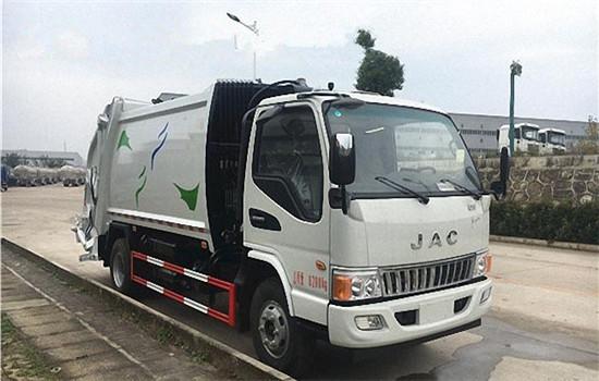 江淮压缩式垃圾车︱5吨压缩垃圾车
