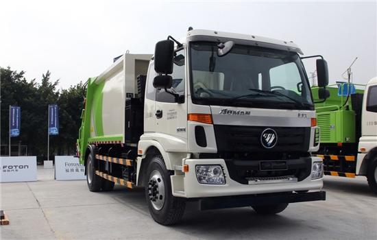 福田欧曼压缩式垃圾车︱12吨压缩式垃圾车