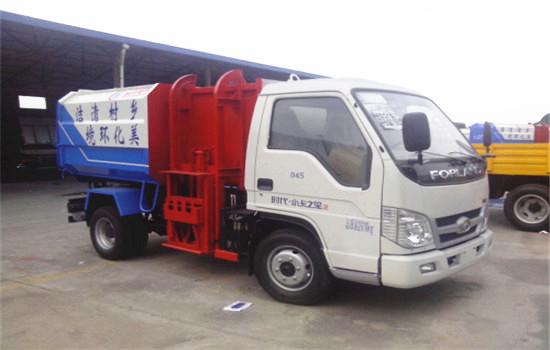 福田挂桶式垃圾车︱4吨挂桶式垃圾车图片