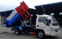 福田挂桶式垃圾车︱4吨挂桶式垃圾车