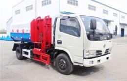 东风多利卡挂桶式垃圾车︱5吨挂桶式垃圾车