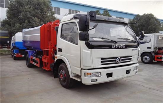 东风多利卡挂桶式垃圾车︱8吨挂桶式垃圾车