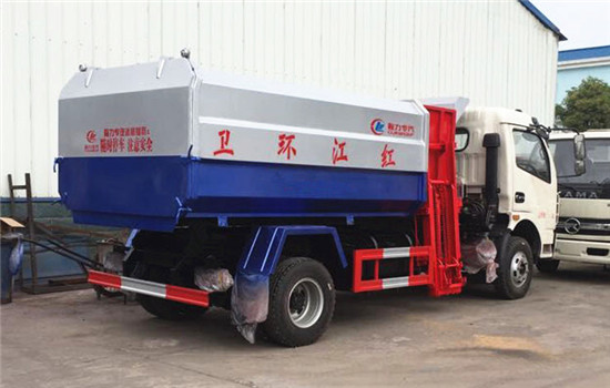 东风多利卡挂桶式垃圾车︱8吨挂桶式垃圾车图片