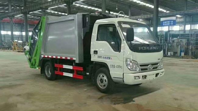 福田压缩式垃圾车︱3吨压缩式垃圾车