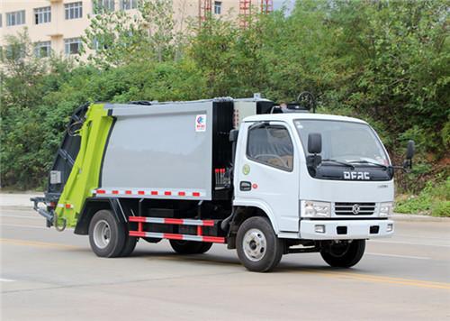 东风多利卡压缩式垃圾车︱5吨压缩式垃圾车