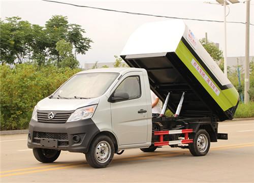 长安密封式垃圾车︱3方密封式垃圾车图片