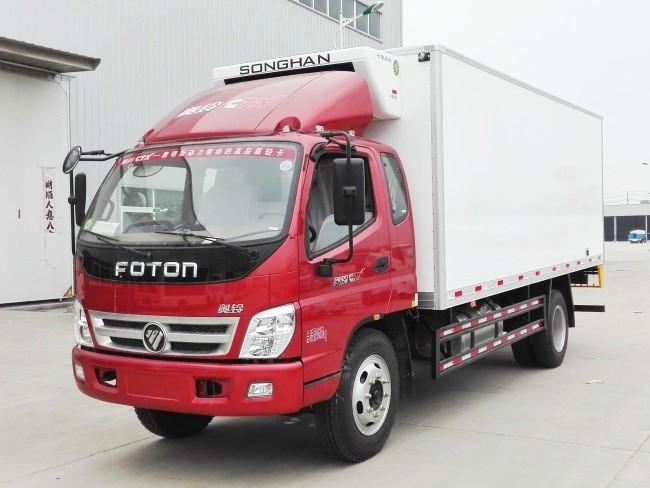福田奥铃一排半冷藏车︱5.1米冷藏车