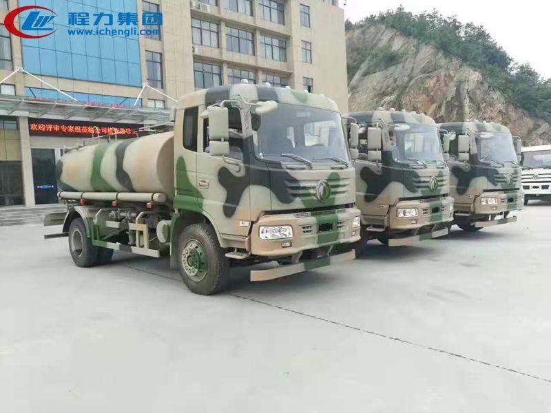 某部队采购东风12吨军用洒水车批量发车