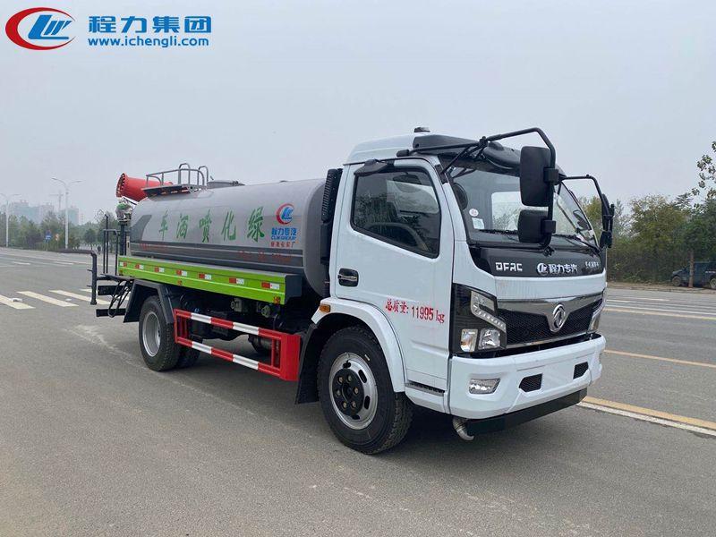 安徽客户订购东风9.3吨雾炮洒水车发车了