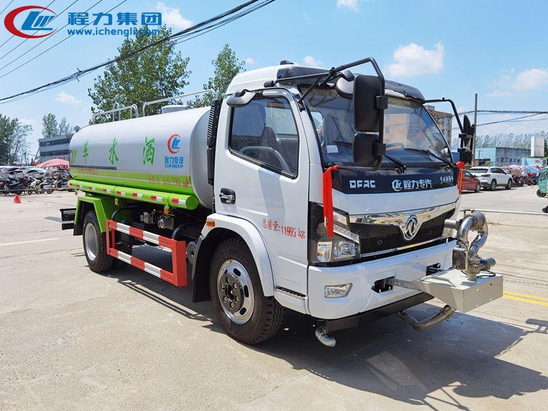 广西客户订购东风9.3吨洒水车发车了