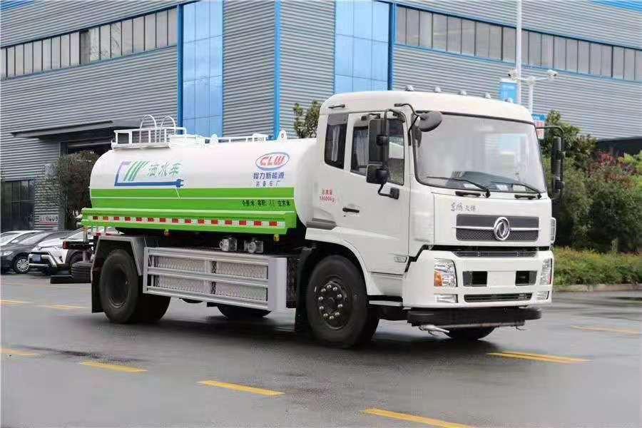 东风天锦12吨纯电动洒水车